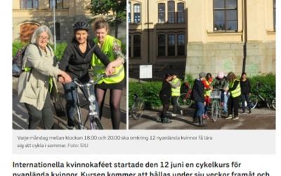 SVT - Sommarkurs i cykling för nyanlända kvinnor