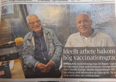 """20210811 UNT gjorde en intervju """"SIU:s fotarbete hjälpte vaccinstatistiken"""""""