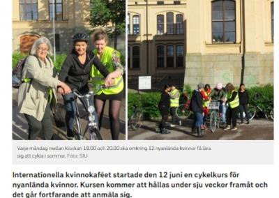 SVT – Sommarkurs i cykling för nyanlända kvinnor