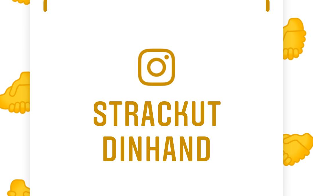 Sträck ut din hand mot min har en Instagram