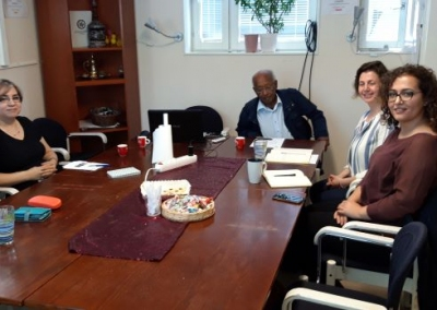 12 augusti 2019 ett besök av två Forskare