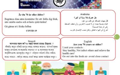 SIUs Corona affisch för Äldre