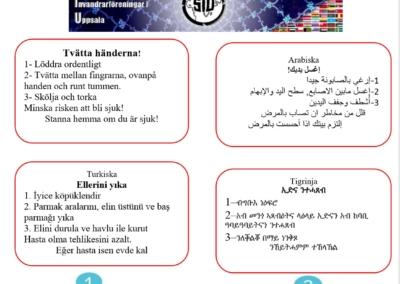 SIU affisch om corona på 18 språk